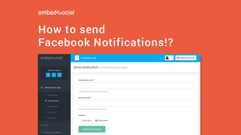 How to send Facebook notifications