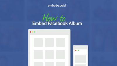 Embed Facebook page album