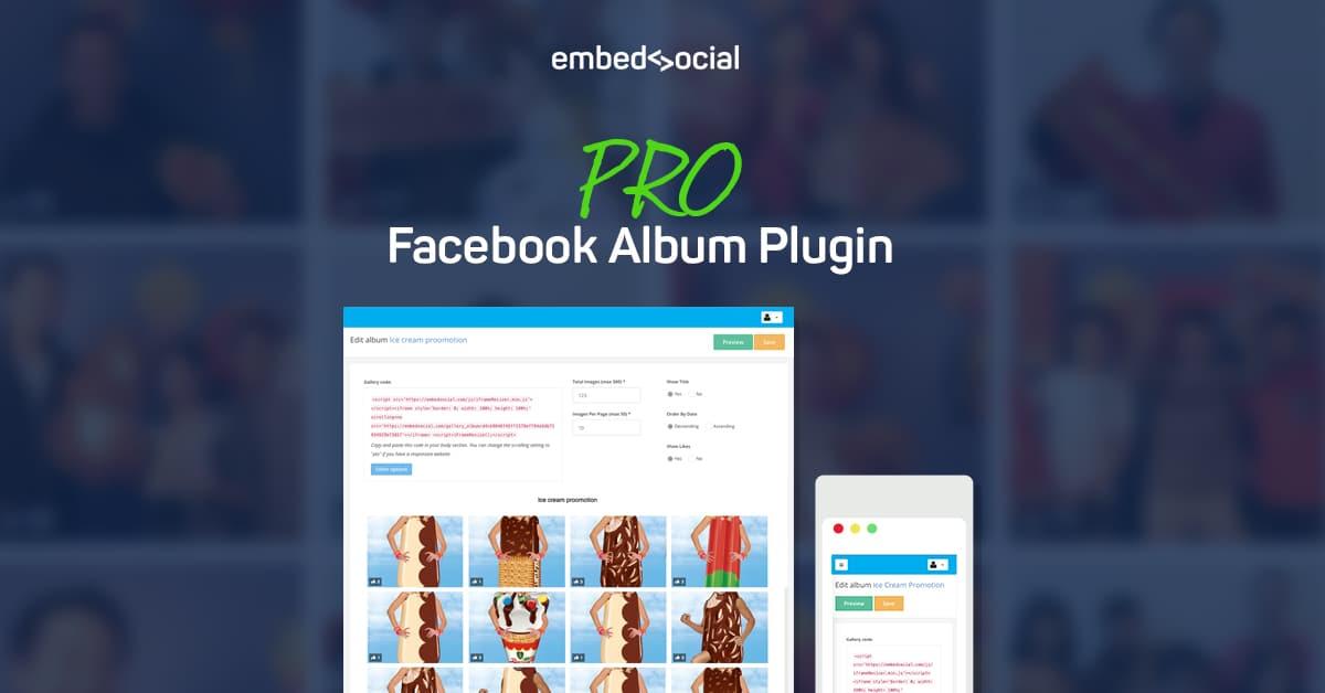 Facebook album plugin pro version