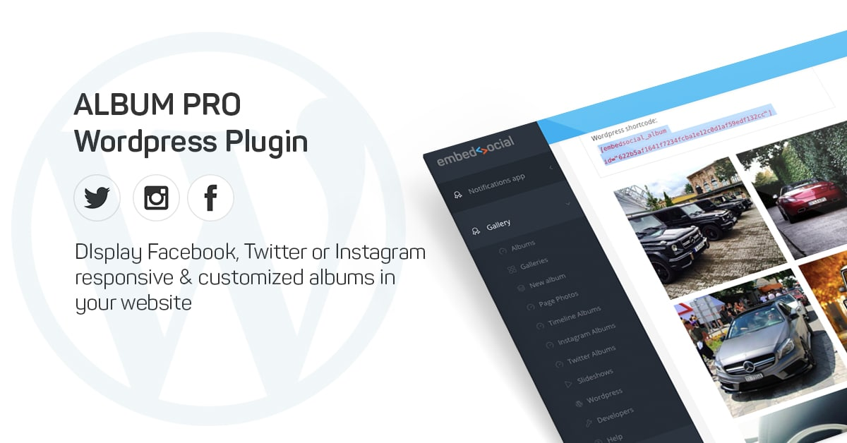 Get the social media EmbedAlbum Wordpress Plugin
