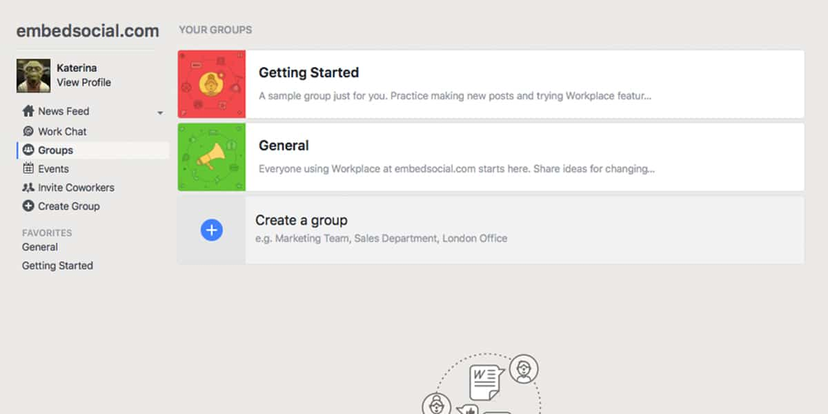 First Glimpse at Facebook Workplace - Embedsocial