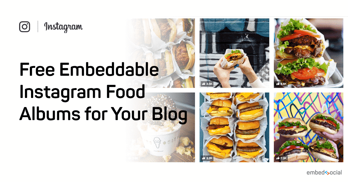 5 amazing instagram food albums that you can embed right now