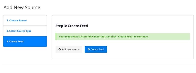 create feed step 4