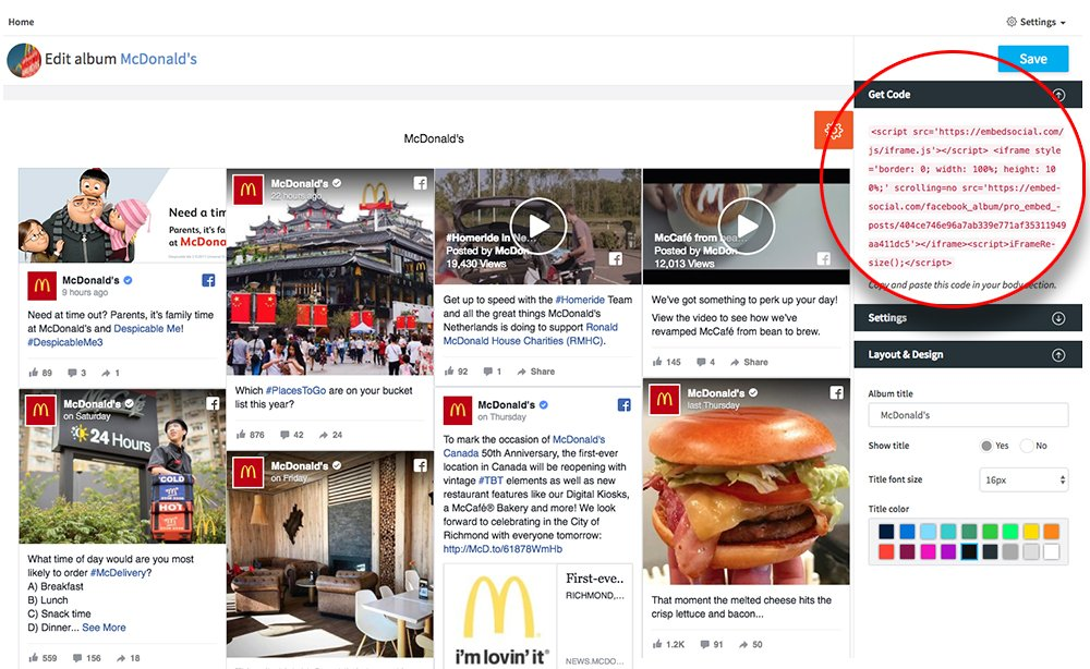 how to add a facebook feed to website