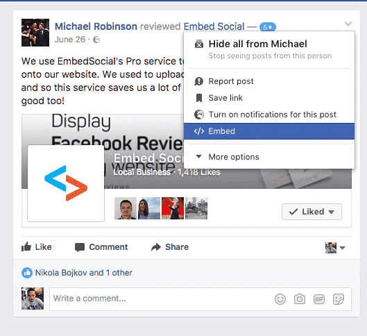 Embed Facebook reviews tutorial