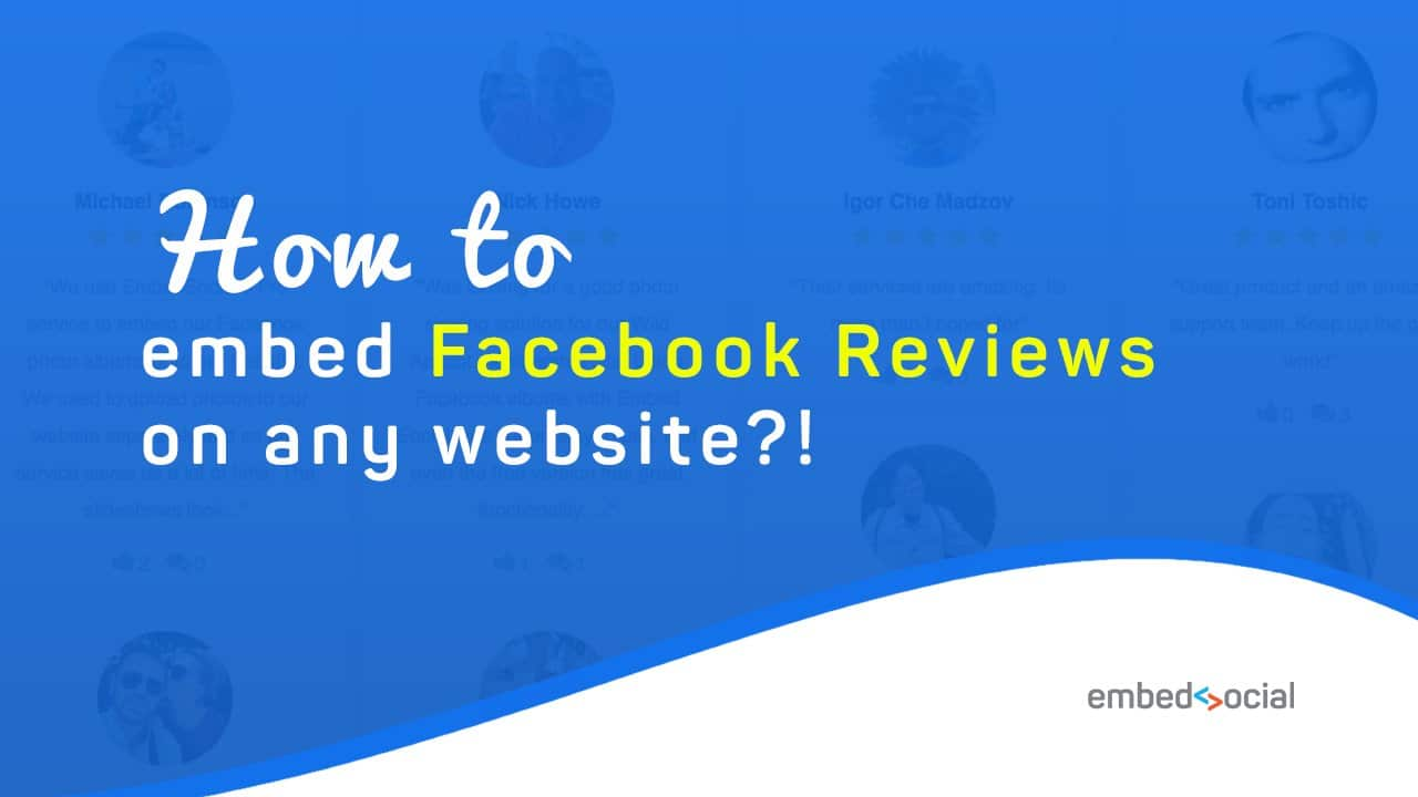Embed Facebook reviews