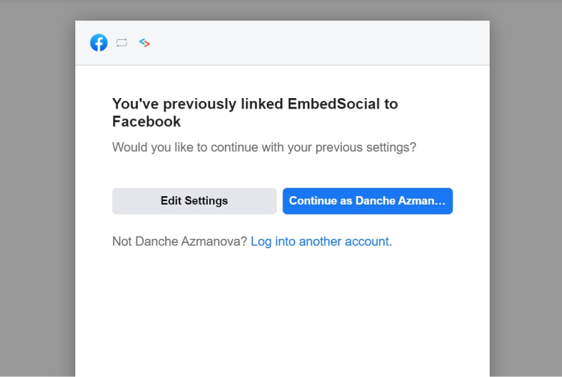 allow facebook permissions window