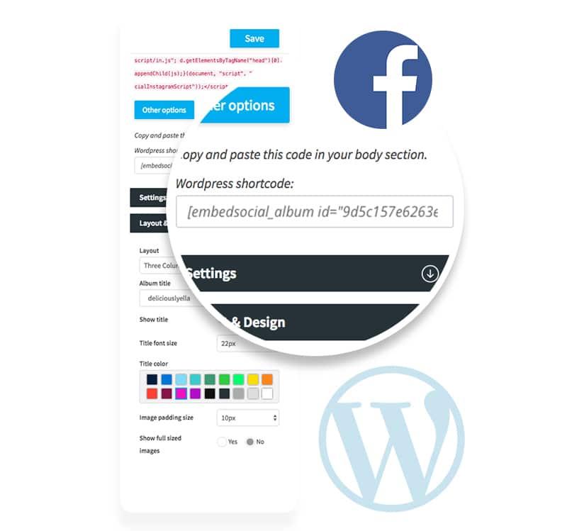 Free Facebook album wordpress plugin