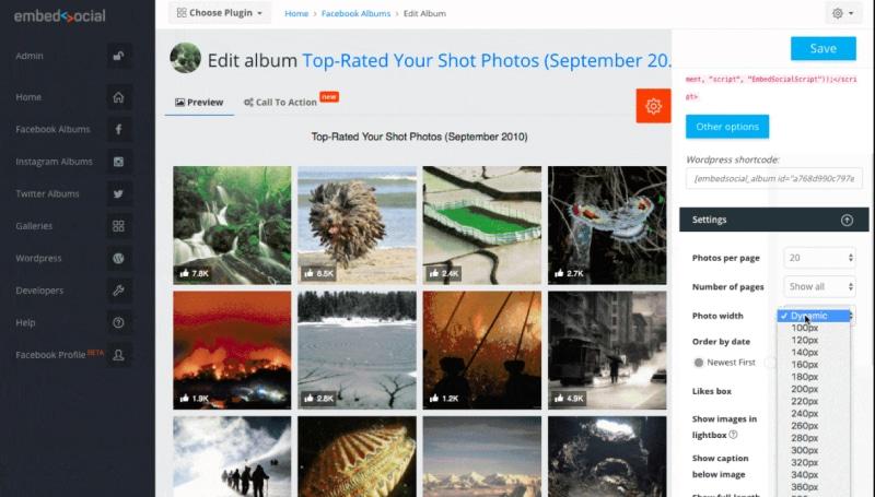 edit facebook album thumbnails