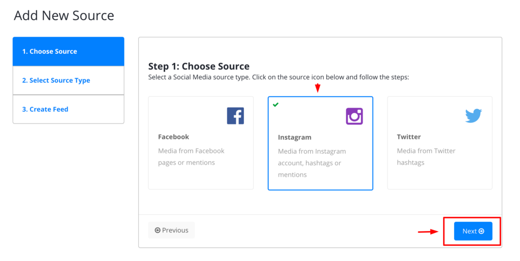 Embed Instagram account feed