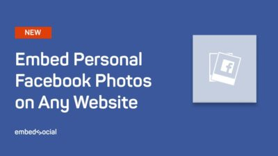 Embed personal facebook photos
