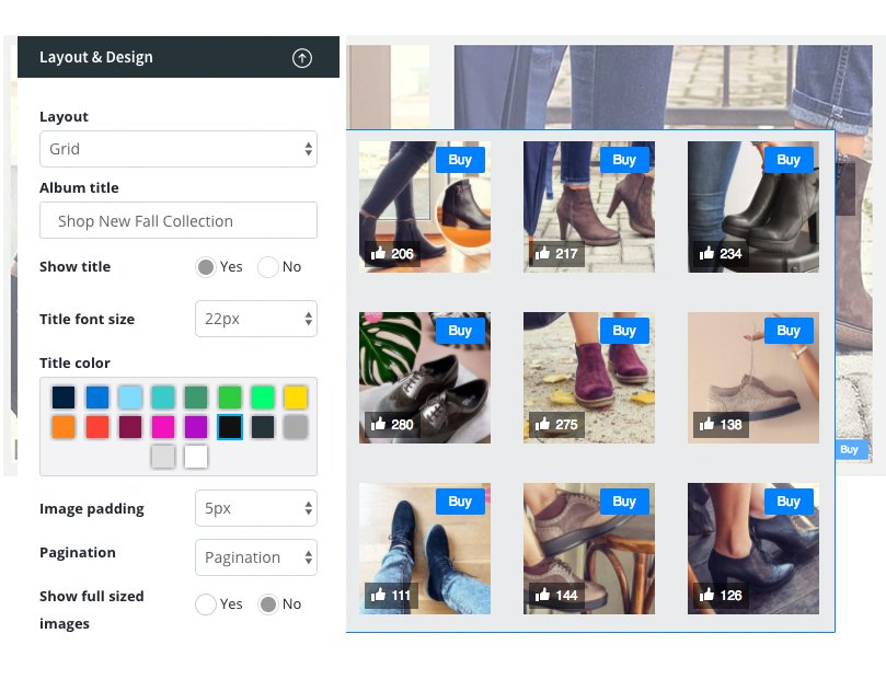 Customize Instagram Shop