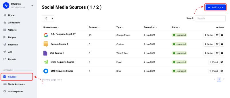 add source