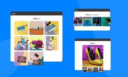 embed facebook and instagram widgets