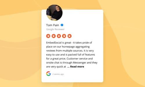 embed google reviews widget