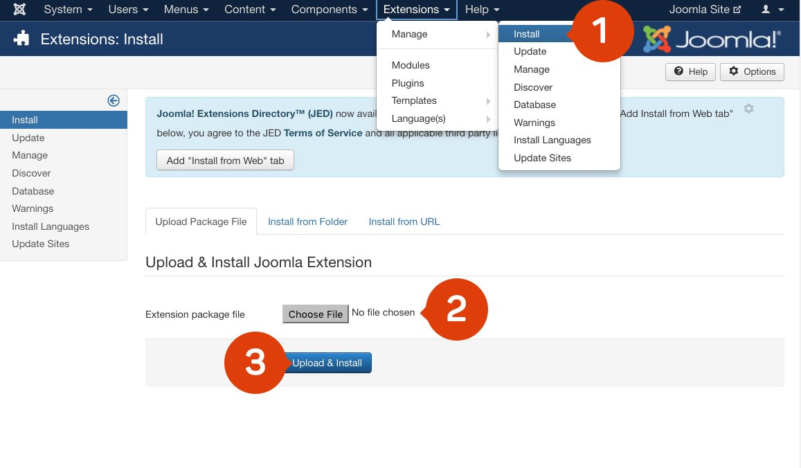 Install EmbedSocial Joomla Plugin