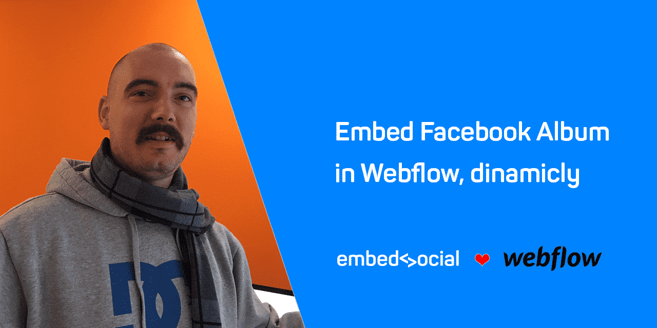 Embed Facebook album Webflow
