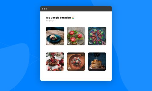 embed google my business photos