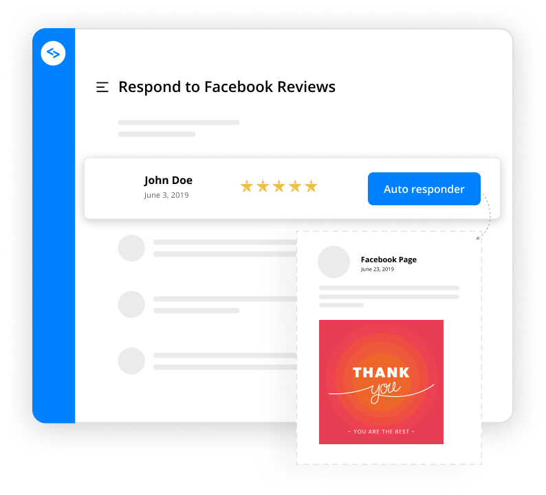 facebook reviews autoresponder