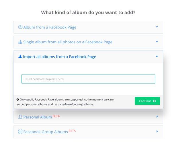 import facebook albums