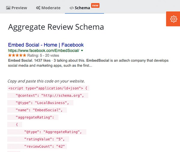 schema snippet reviews code