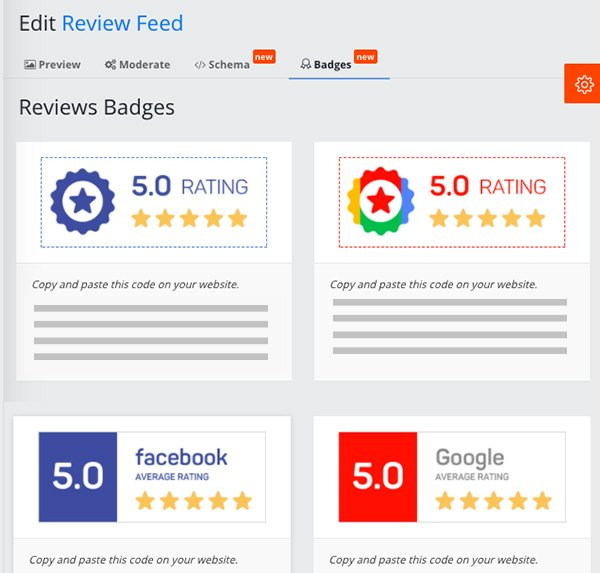 embed reviews badge