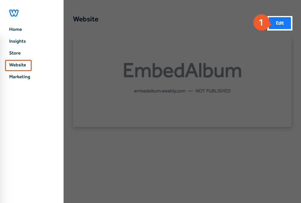 Embed Facebook album in Weebly