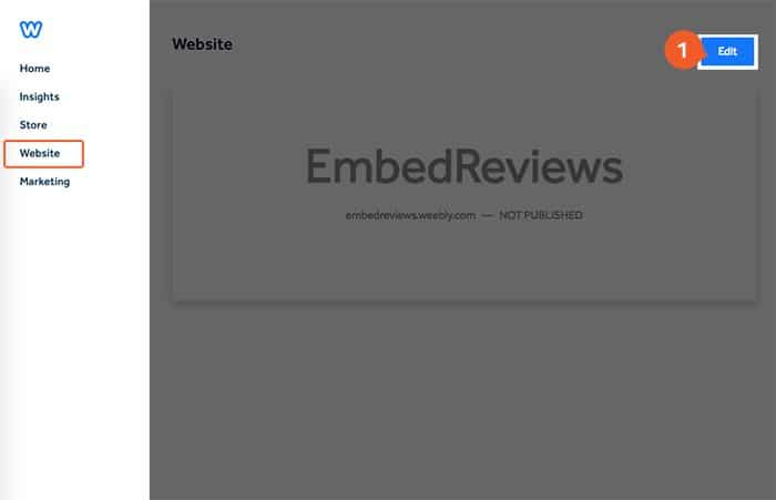 Embed Facebook reviews in Weebly website