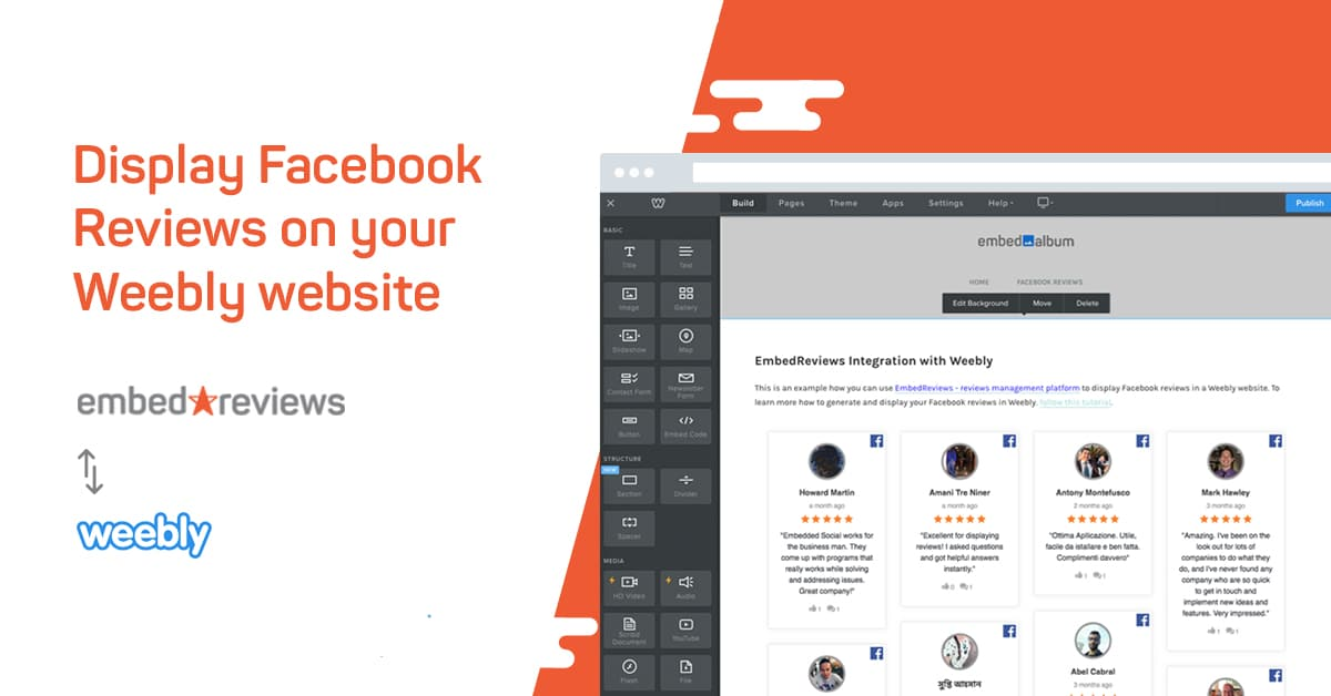 How to embed Facebook reviews in Weebly - EmbedSocial