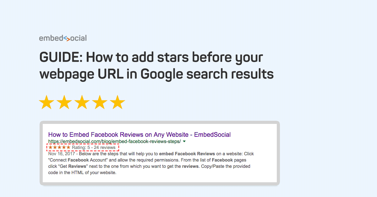 google stars rating