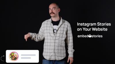 Instagram stories on your website