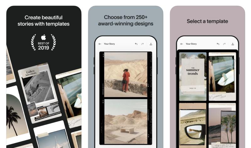 stories templates app