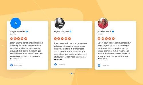 custom css facebook reviews widget