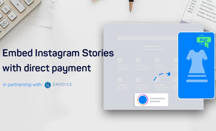 Instagram stories shop