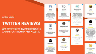 Embed Twitter reviews