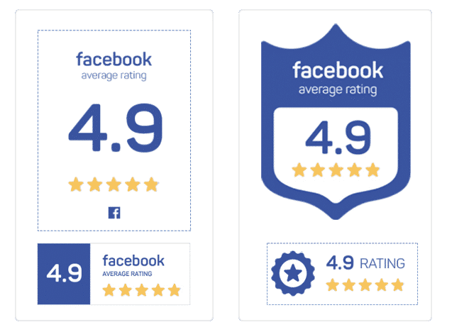 Facebook rating badges