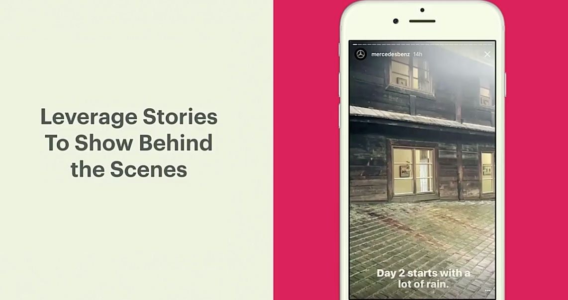 Instagram stories use case