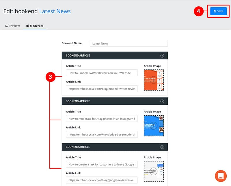 add bookend articles