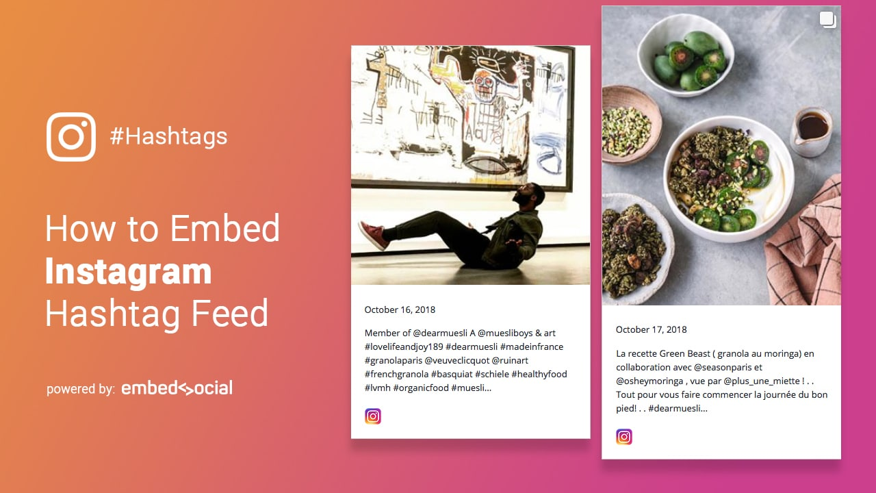 instagram hashtag feed steps