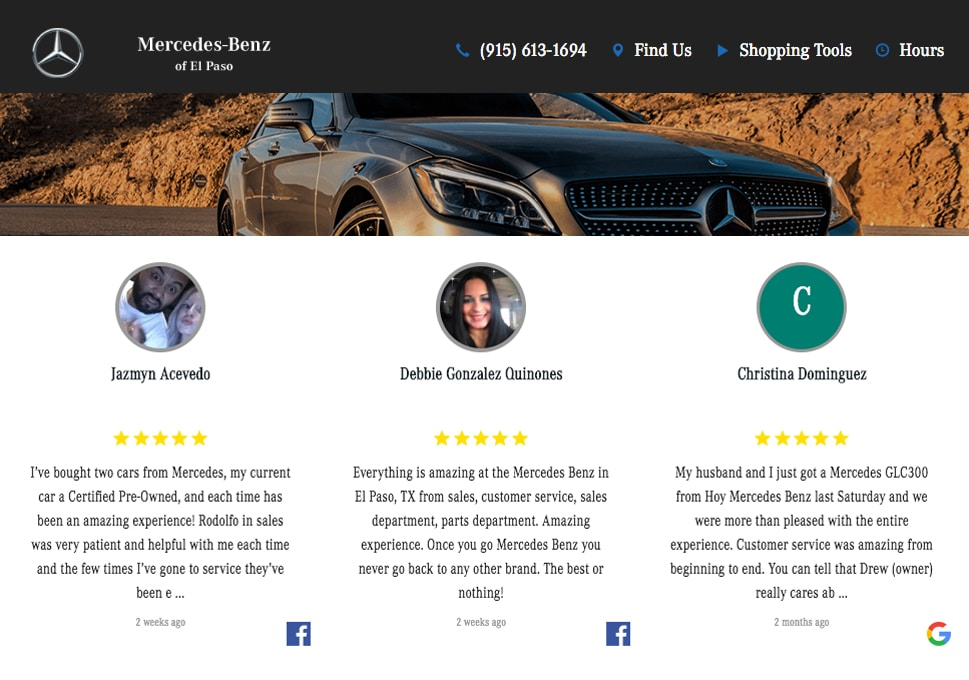 generate car dealership facebook reviews