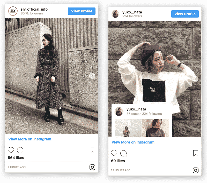 embed Instagram feed
