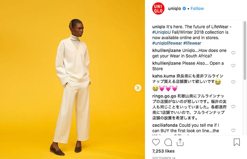 Instagram Uniqlo Japan