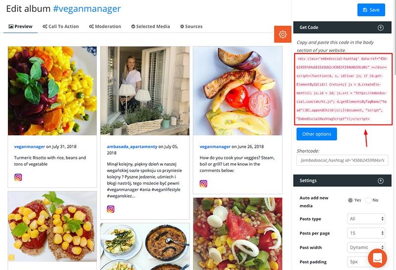 Social media feed aggregator