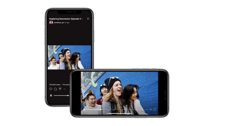 landscape IGTV video format
