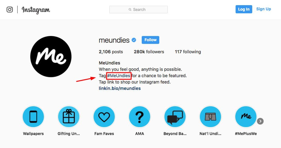 meundies instagram bio
