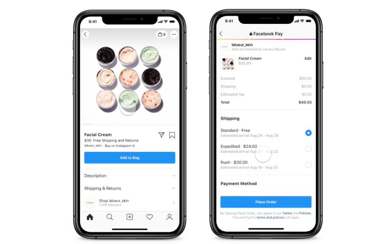 instagram checkout rollout in us