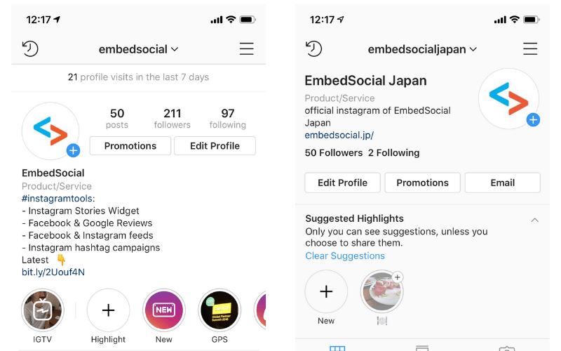 new instagram profiles