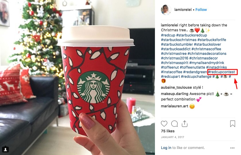 Starbucks hashtag campaign