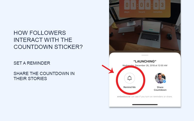 instagram countdown reminder
