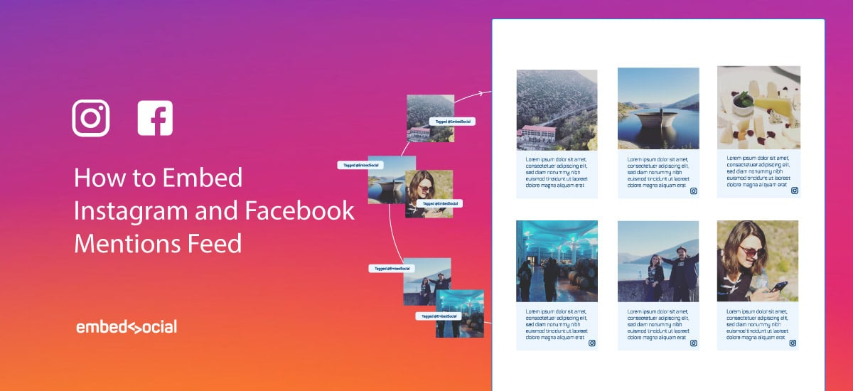 Embed Facebook Instagram Mentions Feed